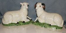 Chelsea House Ceramic Hand Painted Bighorn Sheep Figurine Set Made in Italy