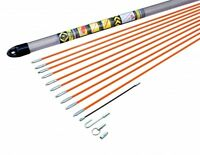 CK Tools T5410 Electrical Cable Access Rod Set 10m Hook Eye Threading Adapter
