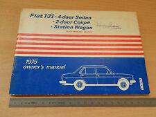 MANUALE USO MANUTENZIONE ORIGINALE FIAT 131 AMERICA 1975