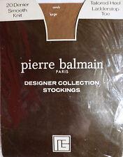Pierre Balmain Large Size Vintage 20 Denier Smooth Knit Designer Nylon Stockings