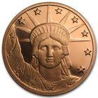 1 once 999 Cuivre Round USA Liberty Head (tête) Statue de la Liberté