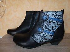 Gemini Designer Stiefelette NEU Gr. 42 in schwarz - blau & Nappa Leder ansehen
