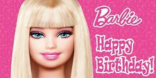 """FREE /""""BARBIE/""""  PICTURE PERSONALIZED  ART//POSTER //BANNER//PICTURE  30X8.5/"""""""