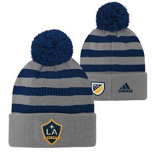 Adidas MLS Youth Los Angeles Galaxy Cuff Hat w/Pom Beanie, Small (8)