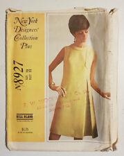 Mc-8927 Bill Blass Designer Dress Sewing Pattern McCall's SZ 12 Cut & Complete