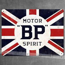 BP MOTOR SPIRIT METAL OIL SIGN RETRO PLAQUE VINTAGE ADVERT GARAGE PUB MAN CAVE
