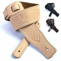 British, Handmade, Premium Quality, Leather Guitar straps. 21 designs / Colours