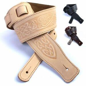 British, Handmade, Premium Quality, Leather Guitar straps. 21 designs / Colours