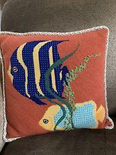 handmade needlepoint pillow