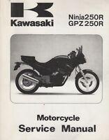 1986-1987 KAWASAKI MOTORCYCLE NINJA 250R SERVICE MANUAL P/N 99924-1066-01 (294)