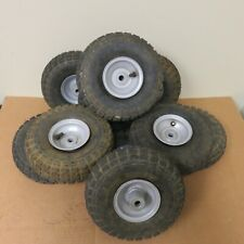 Set of 10 Yerf Dog tires 4.10/3.50-4 with rims/tubes Go Kart Mower Lawn