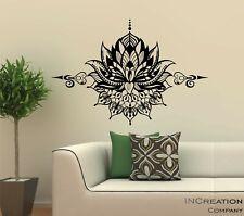 Mandala Vinyl Wall Decal OM Symbol Wall Sticker Lotus Flower Home Bedroom Yoga