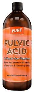 Fulvic Acid 1 Litre...100% Pure...The Organic Super Supplement