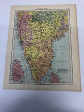 Map 1935: Southern India & Burma And Malay Peninsula Print 85 Years Old Maps