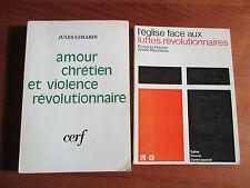 Lot de 2 livres: L'église et la révolution de F.Houtard, A. Rousseau, J. Girardi