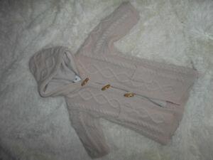 BONPOINT manteau avec capuche en laine 18 mois