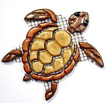 Mosaiksteine-Schildkröte-Turtle-gold/kupfer-Grösse:11x12cm-handgefertigt
