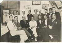 1937 Ecuador Masonic Initiation Ceremony Luis Edison Chauvin Fraternal Photo