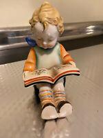 "Hummel type figurine - Boy with a Book 6"" Tall"
