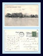 Uk Colonial Trinidad Coolie Depot Posted 1908 Ny City To League Island, Penn