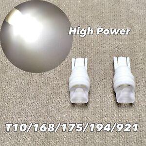 PARKING LIGHT Ceramic T10 W5W 168 175 194 2825 921 SMD LED 6000K WHITE bulb W1 J