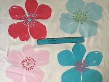 Amalfi 100% upholstery COTTON Clarke & Clarke 145cm wdth,Pink/Blue/Red NEW PRICE