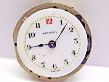 Antique Bristol Pocket Watch Movement, 23.5 mm in size. Porcelain dial 21.5 mm