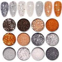 6 Boxes Nail Glitter Sequins Flakes Irregular Palliette Shiny Nail Powder Sets