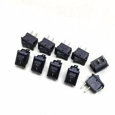 10 x NEW 3A 250V 2 Pin 10*15mm Mini ON/OFF Rocker Switch XL601-BK #ewgtc