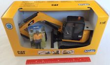 Bruder Toys Caterpillar CAT Mini Excavator with Working Arm & Worker 02467 NEW
