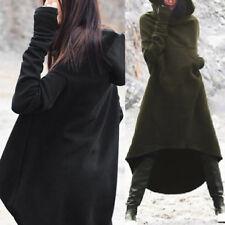 UK 10-24 Women Winter Hoody Long Sleeve Hoodies Asymmetric Tops Sweatshirt Dress