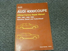 1980 1981 1982 1983 Audi 4000 Quattro Coupe Shop Service Repair Manual S 5+5