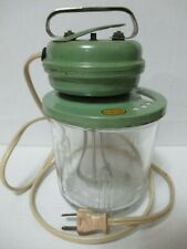 Vintage Working VIDRIO Products Electric Mixer Blender Egg Beater w/ Glass Jar