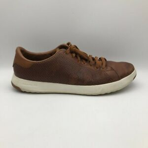 Cole Haan Mens GrandPro Sneakers Brown Leather Lace Up Perforated Low Shoes 10 M