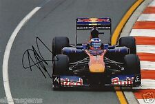"Formula One F1 Driver Jaime Alguersuari Red Bull Hand Signed Photo 12x8"" J"