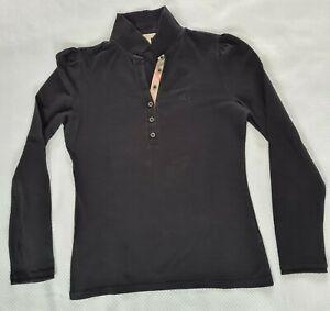 Burberry Brit Black Long Sleeve Shirt Sweater Black M Used