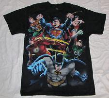 MEDIUM DC COMICS MENS T-SHIRT JUSTICE LEAGUE SUPERMAN GREEN LANTERN FLASH BATMAN