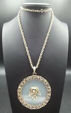 Vintage Rose Pendant Necklace 1960's 1970's