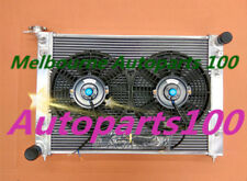 52mm 3 ROW ALLOY RADIATOR + TWO Fans for HOLDEN COMMODORE VN VG VP VR VS V6 3.8L
