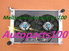 52mm 3 ROW ALLOY RADIATOR + TWO Fans for HOLDEN COMMODORE VN VG VP VR VS V6 3.8L