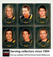 Popular--2009 Select AFL FOIL Sticker Team Set Richmond (6)