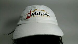 Teleferico Zacatecas  Embroidered Gondola White Baseball Cap Hat