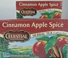 "Lot Of 2 Celestial Seasonings ""Cinnamon Apple Spice"" Herbal Tea 20 Count"