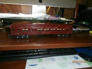 AMERICAN FLYER S-SCALE  LIGHTED PULLMAN PASSENGER CAR-AMERICAN FLYER-652