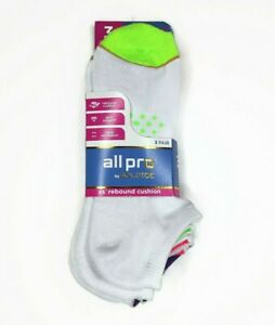 GoldToe Womens Socks All Pro No Show 3 Pair 4-10 Arch Support Cushion Breathable