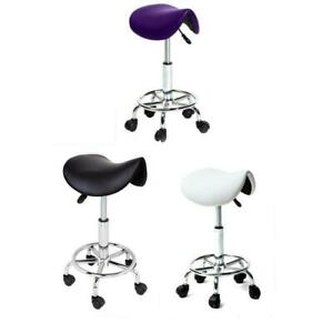 Saddle Salon Stool Beauty Haircut Manicure Spa Swivel Gaslift Seat Bar Chair