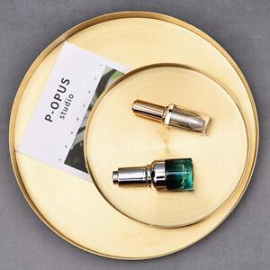Gold Storage Round Trays Platte Edelstahl Organizer für Schmuckschatullen DE