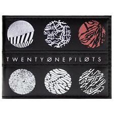 More details for new official twenty one pilots skeleton clique blurryface black bi-fold wallet