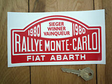 "FIAT ABARTH Monte Carlo Rally Winner 1980 STICKER 7"" Classic Car Rallye Race"