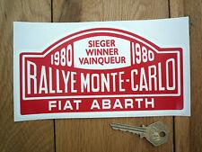 Fiat Abarth Rally De Monte Carlo Winner 1980 pegatina 7 pulgadas coche clásico Rallye Carrera